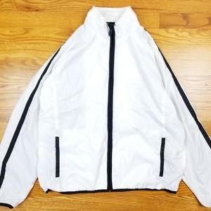 Nike Track Windbreaker Zip Up White Jacket